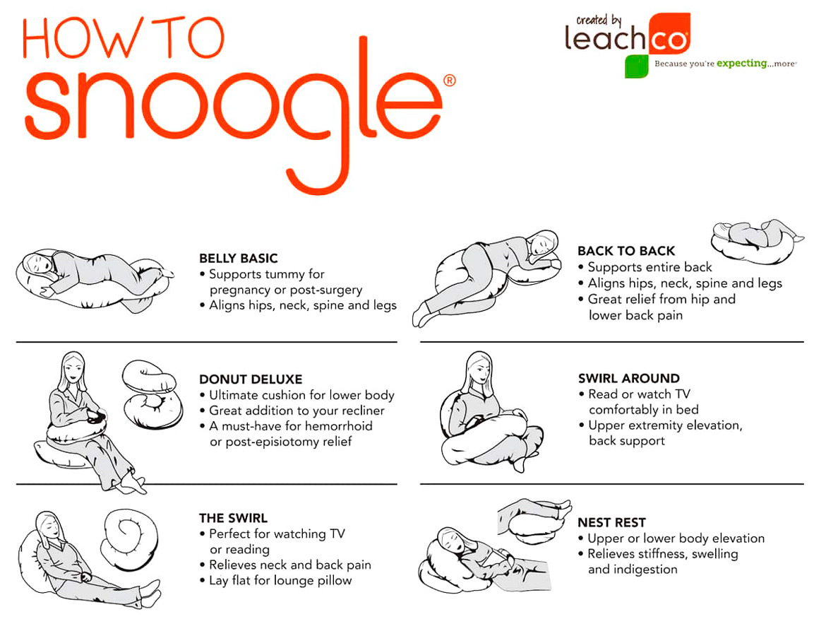 How To Use Leachco Snoogle Maternity Pillow