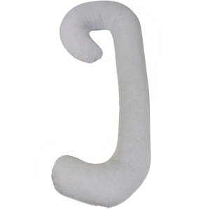 C-shaped or J-shaped pregnancy pillow