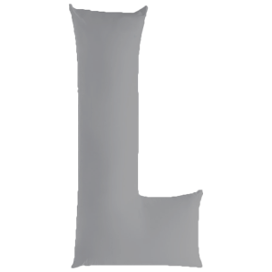 L-shaped pregnancy pillow